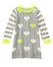 Get Extra 30% Off Striped Heart Sweater Dress