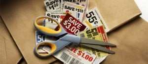 coupons-scissors-brown-bag
