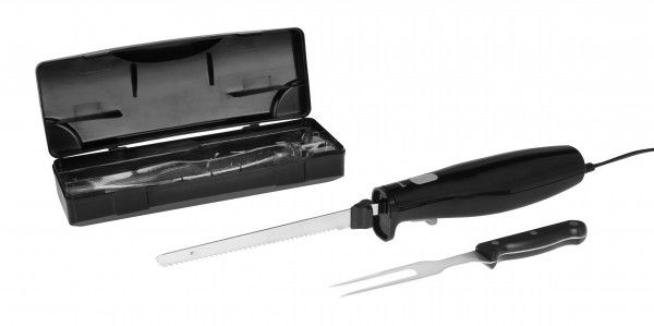 Black/White Quick Slice Electric Knife Carving Set