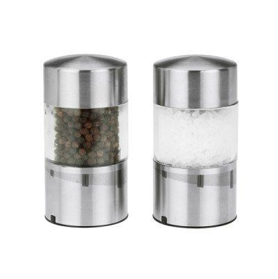 Rechargeable Stainless Steel Salt and Pepper Grinder Set