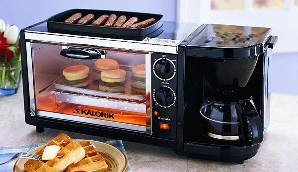 Set 3 in 1 Coffee Maker Oven Griddle