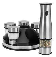 Rechargeable Cordless Spice Mill Set