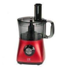 Black/Red 8-Cup Food Processor With 7 Attachments